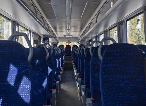 Wnętrze autobusu